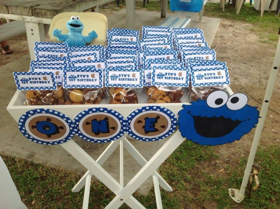 Cookie Monster Sesame street party ideas6