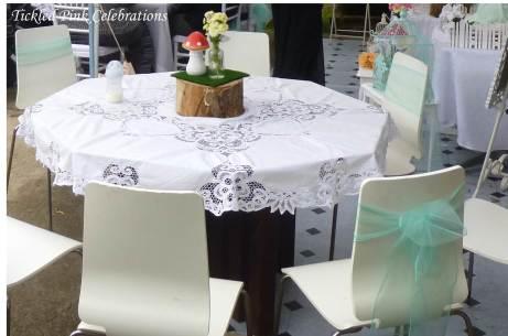 Enchanted Garden Baby Shower dessert buffet-table setting