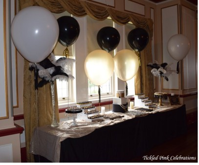 Great Gatsby 1920s party wedding dessert buffet