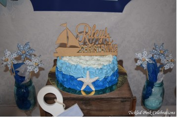 Nautical Baptism Christening cake party table2