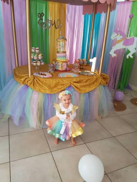 Rainbow Carousel Party11
