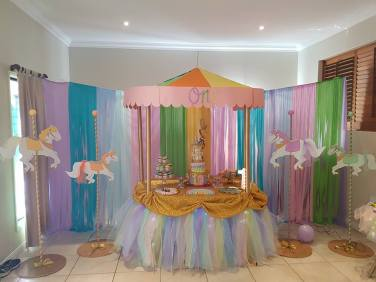 Rainbow Carousel Party12