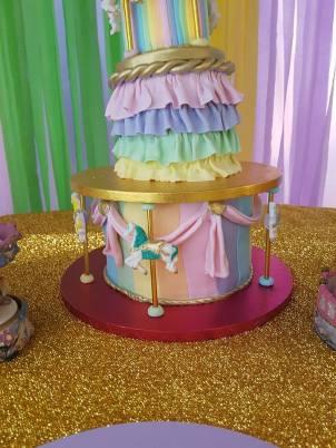 Rainbow Carousel Party17