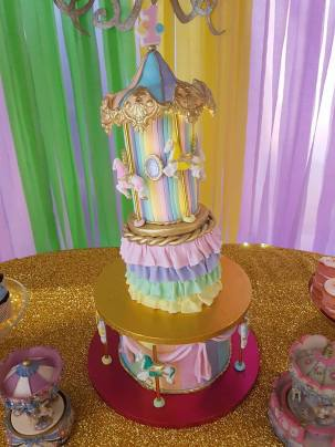 Rainbow Carousel Party8