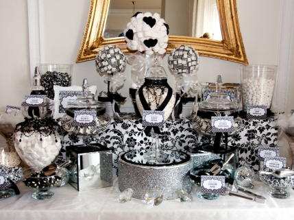Wedding lolly buffet-Black & white-Pinterest