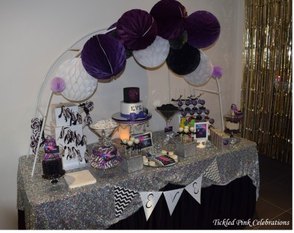 Kids Disco birthday party table lolly buffet