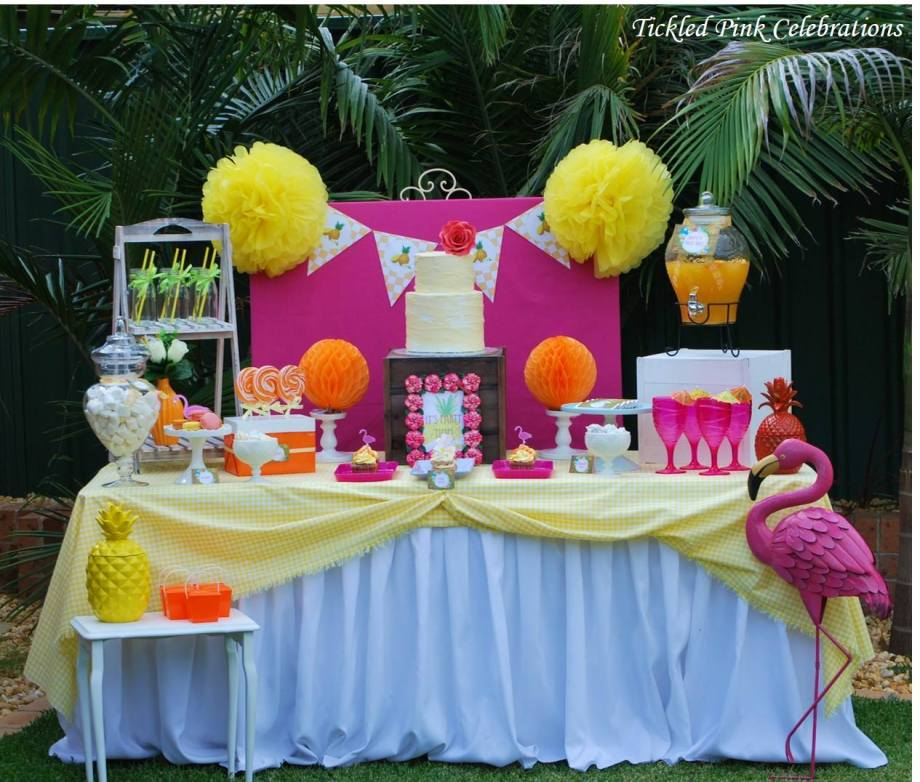 Tropical Flamingo Party-Tickled PInk Celebrations
