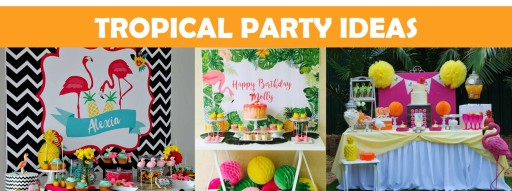 Tropical Party Ideas Home Page Ad