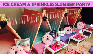 Ice Cream Doughnuts Slumber Party Icon