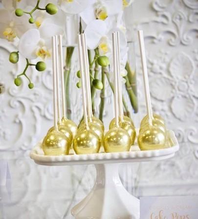 White gold silver kitchen tea bridal shower dessert buffet