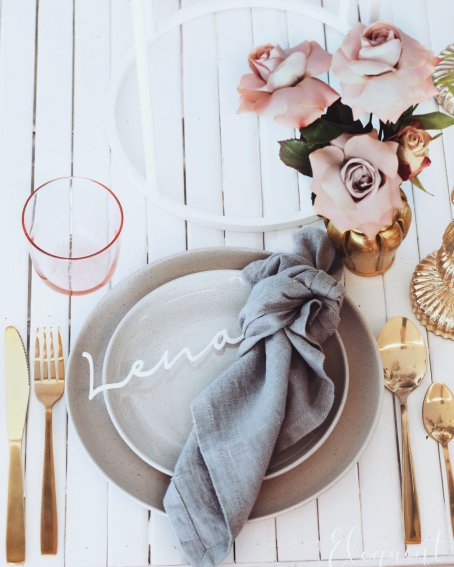 Blush Pink Silver Luxury Party Event