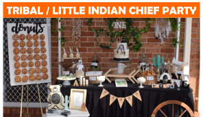 Tribal Little Indian Chief Party Icon