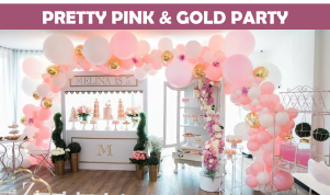 Pink & Gold Party Icon