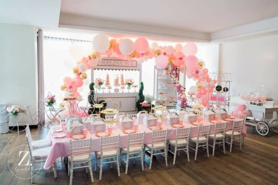 Pink Gold White Girls Party5